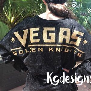 Tops - Vegas Golden Knights Glitter Spirit Jersey 19941bdfe2